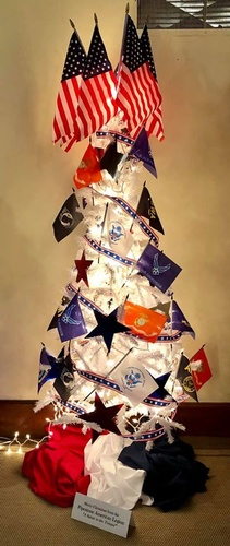 American Legion Tree at Chamber's Holiday Tour of Trees - Photo by Erica Volkir