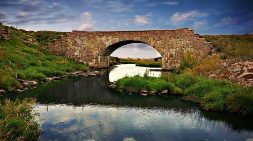 MN's largest single-span stone arch bridge at Split Rock Creek State Park (Photo by Rich Gergen)