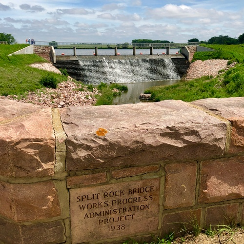 Sioux Quartzite Dam at Split Rock Creek State Park (Photo by Erica Volkir)