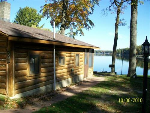 Cabin 8 on the lakefront.