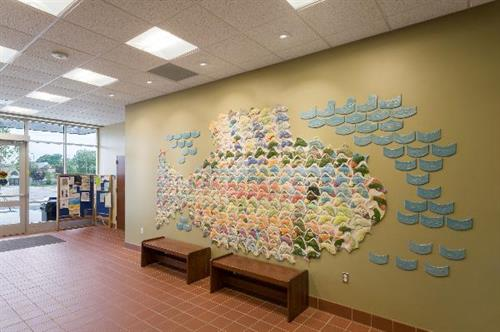 Fish Tiles at Ludington Library