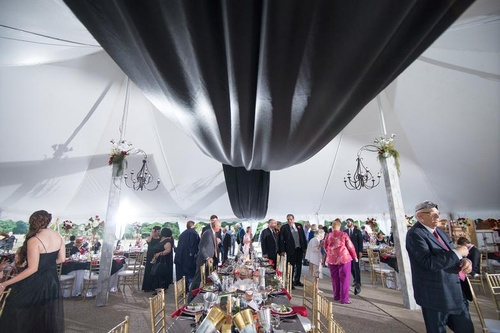 dramatic statements ceiling draping