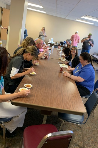 Soup cook-offs are among the activities of the Employee Committee.