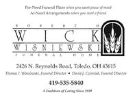 Wick and Wisniewski Funeral Homes