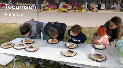 Pie Eating Contest at The Market on Evans