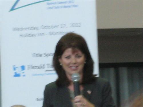 Rebecca Kleefisch, Lt Governor, Keynote Speaker @ 2012 Business Summit