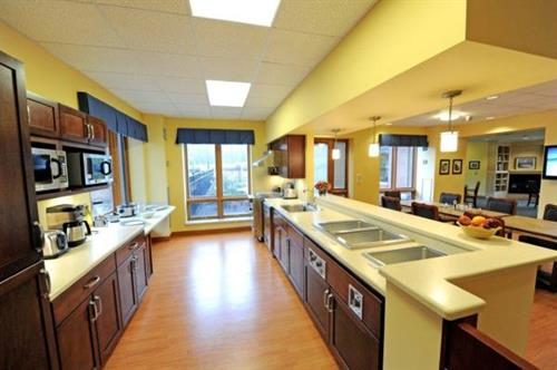 Kitchen area of The Willensky Residence, An Assisted Living Memory Care Community at Montefiore
