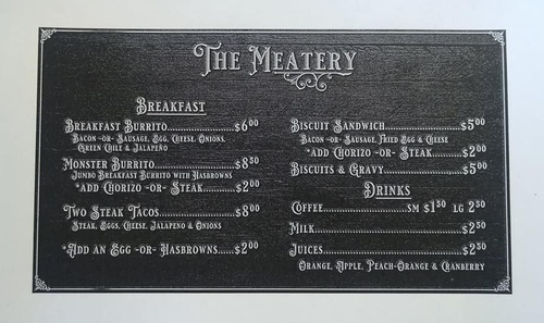 Breakfast Menu 3-3030 (Prices Subject to Change)