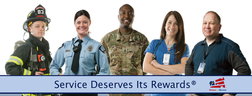Heroes include: veterans, first responders, healthcare fields and teachers.