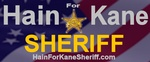 Hain For Kane Sheriff