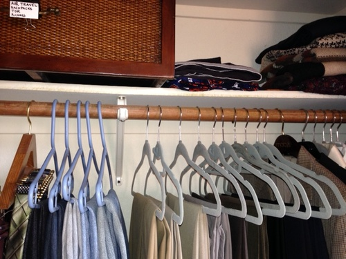 Men's closet After Room Solutions By Paula