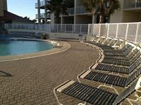 Over-sized pool decks