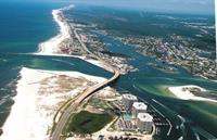 Orange Beach aerial looking west