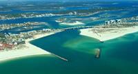 Orange Beach aerial from Gulf