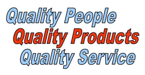 Quality People, Quality Products, Quality Service