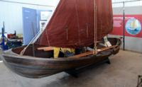 An old Norwegian fishing/sailing skiff.