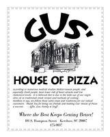 GUS' HOUSE OF PIZZA
