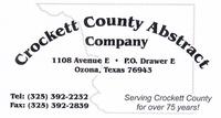 Crockett County Abstract Company