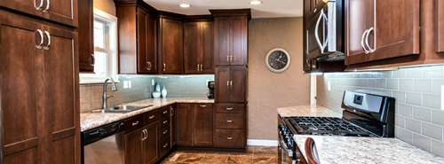 Beautiful new kitchen with breakfast bar