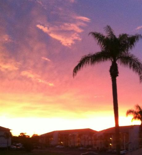 Sunset from my front door with an iphone - no touch ups !