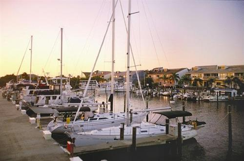 Breathtaking view of Fishermen's Village Marina at Sunset