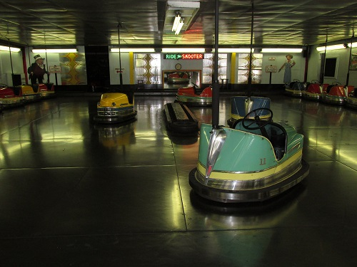 Visit our classic bumper cars! They don't make them like this anymore!!