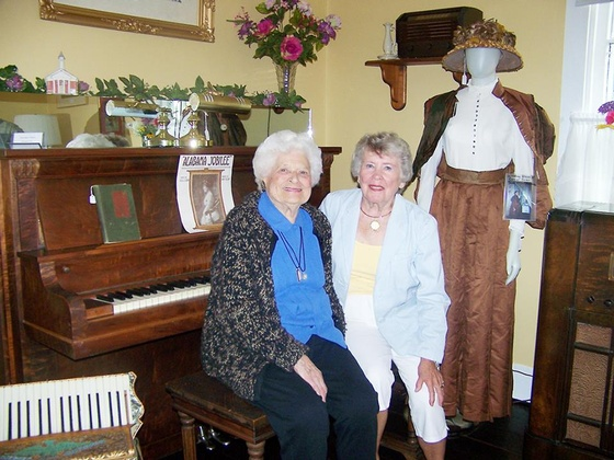 The late Isabelle Zender Wiget, left, and Persis (Newhard) Snoke were special guests at the grand opening of the Newhard House Museum