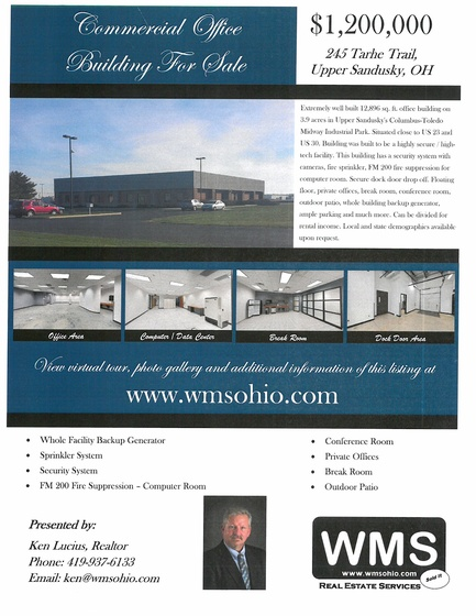 Call Ken Lucius at WMS for more information