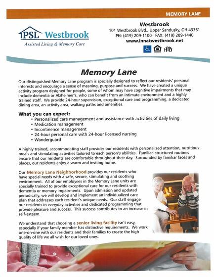 Memory Lane services