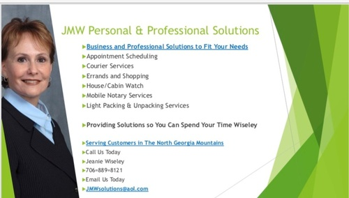 JMW Personal & Professional Solutions - Services