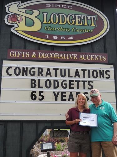 Blodgett Garden Center 65 yr. Anniversary