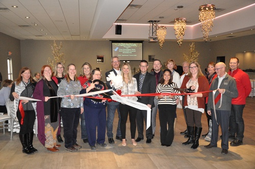 A multi-chamber ribbon cutting was help on February 1, to recognize the grand opening of RiverStone Event Center