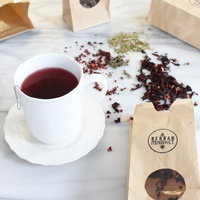 Organic Teas and Coffees by the cup, or take home!