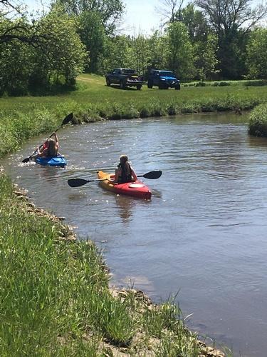 Kayak the Little La Crosse River that merges into the La Crosse River