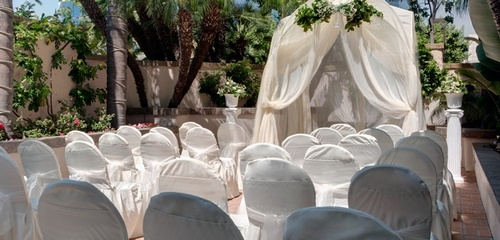 Patio Wedding Set-up