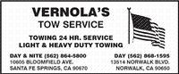 Vernola's Tow Service