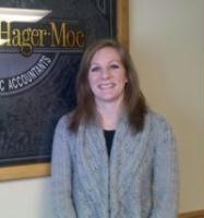 Liz Jacobsson, CPA, has been with Anderson, Hager & Moe since 2009.