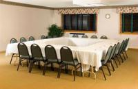 We have meeting and banquet facilities facing the lake with outdoor patio access to accommodate up to 100 people