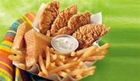 Combo baskets-chicken strips, shrimp, quesidilla