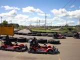 go carts for all ages--single ride or double occupancy for those too short to ''get'' their go-cart driver's licenses!