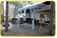 Pull in our RV for a comfortable vacation stay with all the amenities