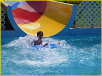 Waterslide for the kids entertainment and to cool off on those hot days