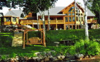 exquisite custom log homes
