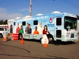 The Bloodmobile visits the Hayward Area Chamber of Commerce