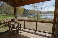 Most cabins have screened porch