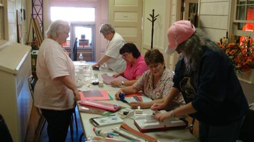 Monthly classes available - cards, albums, ornaments, jewelry, quilling & more!