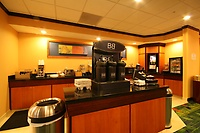 Start your day with our Complimentary Hot Breakfast Buffet. Coffee,tea and cocoa available anytime.