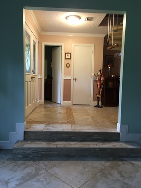 Sunken Living Room Entrance