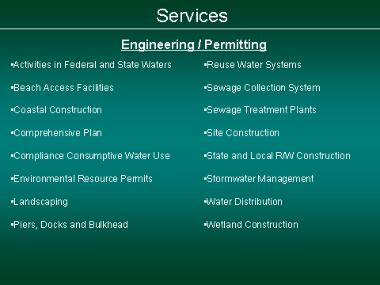Engineering Services - Permitting