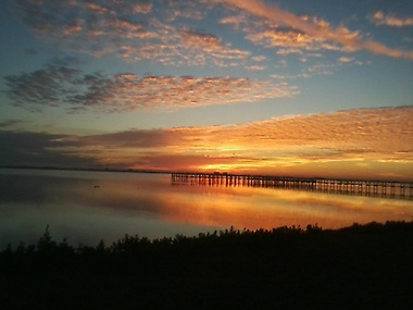 Beautiful sunrises at our pier